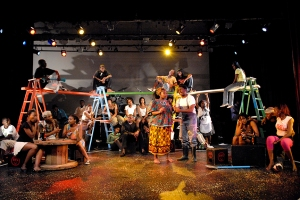 The award-winning SA musical TAXI JAM in performance at the DUT in 2008